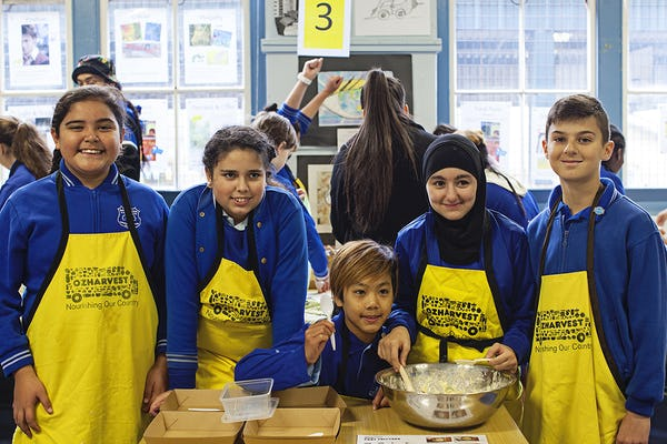 Belmore South students participating in OzHarvest's FEAST