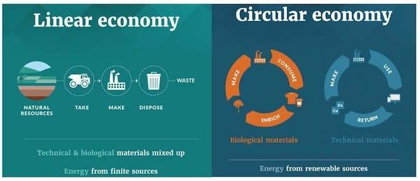 Linear/Circular economy graphic Ellen MacArthur Foundation